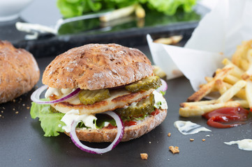 Homemade Halloumi Burger
