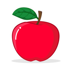 Illustration of Apple, Vector Illustration