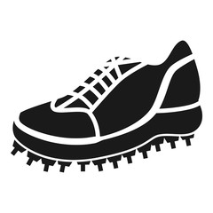 Cricket sneaker icon. Simple illustration of cricket sneaker vector icon for web design isolated on white background