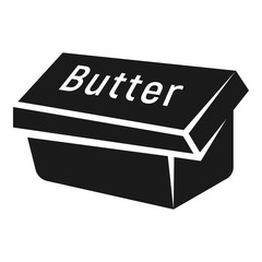 Box butter icon. Simple illustration of box butter vector icon for web design isolated on white background