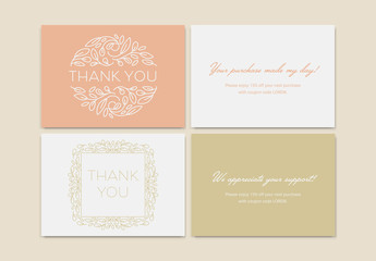 Set of Thank You Card Layouts
