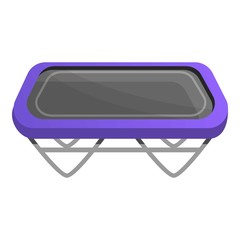 Square trampoline icon. Cartoon of square trampoline vector icon for web design isolated on white background