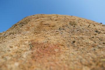 Top of the Menhir of Champ-Dolent, Dol-de-Bretagne city, Brittany - France