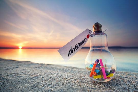 Wünsche und Träume - magischer Abend am See