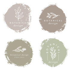 Botanical Design Logo Templates