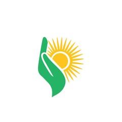 Hand sun  symbol