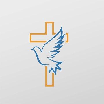 Cross dove symbol