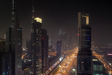 Dubai Financial District at Night