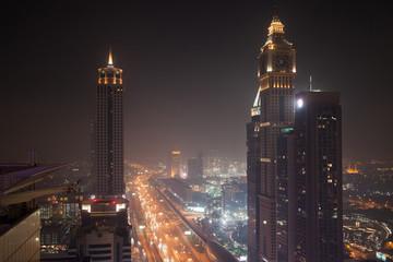 Sheikh Zayed Road at Night