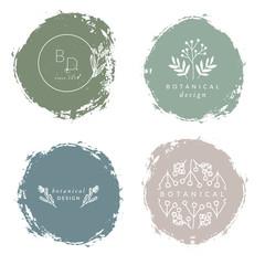 Botanical Design Logo Templates
