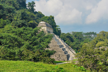 The Temple of the Inscriptions  of Palenque,  Mexico