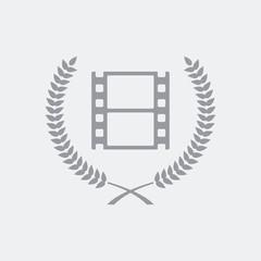 Film or photo award symbol icon