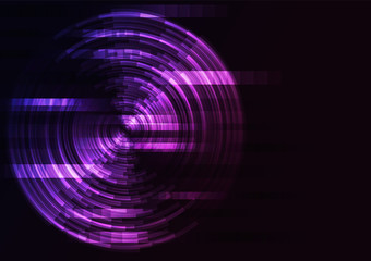 violet abstract circle background, digital overlap layer line, simple technology design template, vector illustration