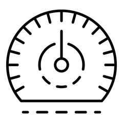 Auto speedometer icon. Outline auto speedometer vector icon for web design isolated on white background