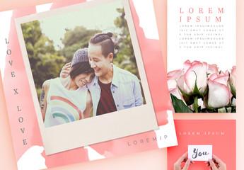 Valentine's Day Love Notes Social Media Set
