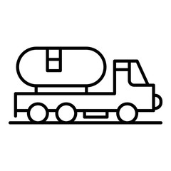 Petrol truck icon. Outline petrol truck vector icon for web design isolated on white background