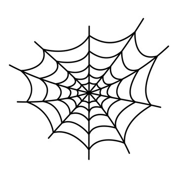 Danger spider web icon. Outline danger spider web vector icon for web design isolated on white background