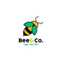 Bee logo template vectort. Animal logo template