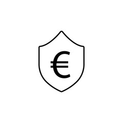 shield, euro icon. Element of finance illustration. Signs and symbols icon can be used for web, logo, mobile app, UI, UX