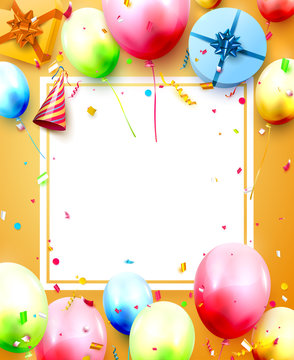 Happy birthday party template