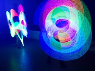 bright light effects, lottery show, LED show, colorful bright spiral effects