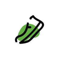 Sneaker icon. Vector run hand drawn line symbol