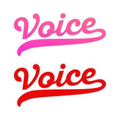 Vector logo for Karaoke bar or Singing School - Style lettering
