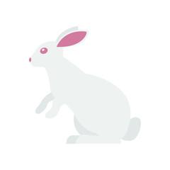 White bunny vector emoji