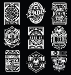 Vintage Poster / Emblem / T-shirt Design Vector Set