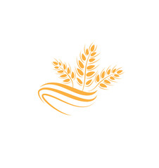 Wheat icon. agriculture farm logo. natural product grain sign