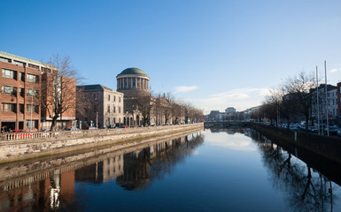 The Four Courts in Dublin City, Ireland