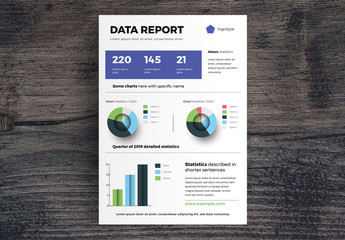 Data Report Infographic Layout with Charts