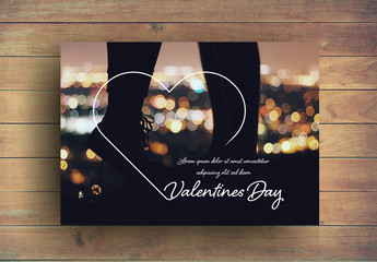 Valentine's Day Photo Frame Card Layout