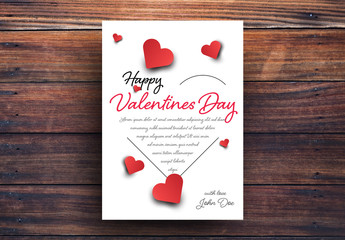 Valentine's Day Card with Heart Silhouette