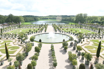alace and Park of Versailles, France.