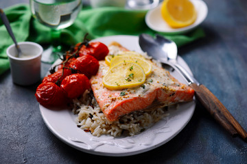 Mustard Trout Fillets.style rustic