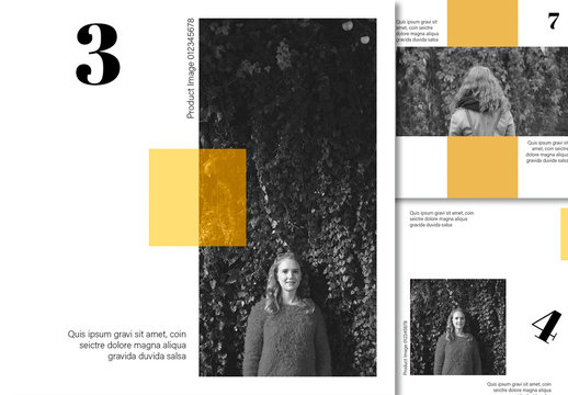 Social Media Post Layout Set with Yellow Accents