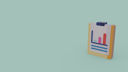 3d icon of bar chart