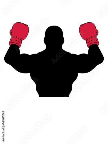 Sport Posen Boxer Handschuh Boxhandschuh Boxen Ring Kickboxer