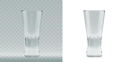 Empty transparent triangular glass for cosmopolitan cocktail