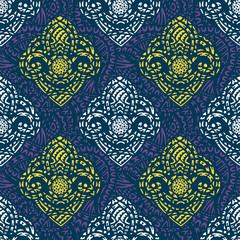 Ornamental ethnic art, patterned Indian, Turkish, Arabic, paisley. Hand drawn illustration. Tattoo, astrology, alchemy, boho and magic symbol. Original design in doodle style.