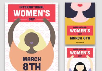International Women's Day Peaceful Change Flyer Layouts