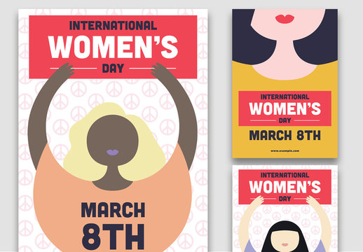International Women's Day Peaceful Change Flyer Layouts
