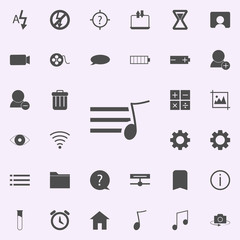 sign musical sheet icon. web icons universal set for web and mobile