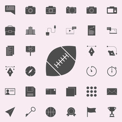 rugby ball icon. web icons universal set for web and mobile