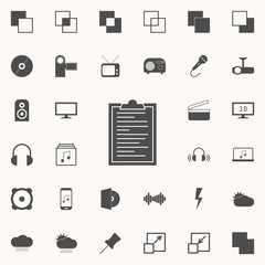 document tablets icon. web icons universal set for web and mobile