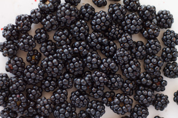ripe BlackBerry texture of black berries sweet and fragrant piece of summer vitamins use