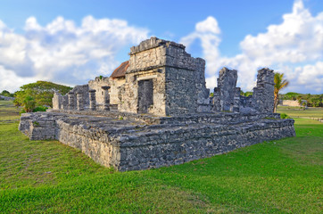 Fototapeta Tulum -  the site of a pre-Columbian Mayan walled city in Mexico.  obraz