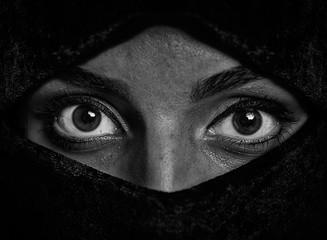 Girl with big eyes