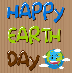 Happy earth day template
